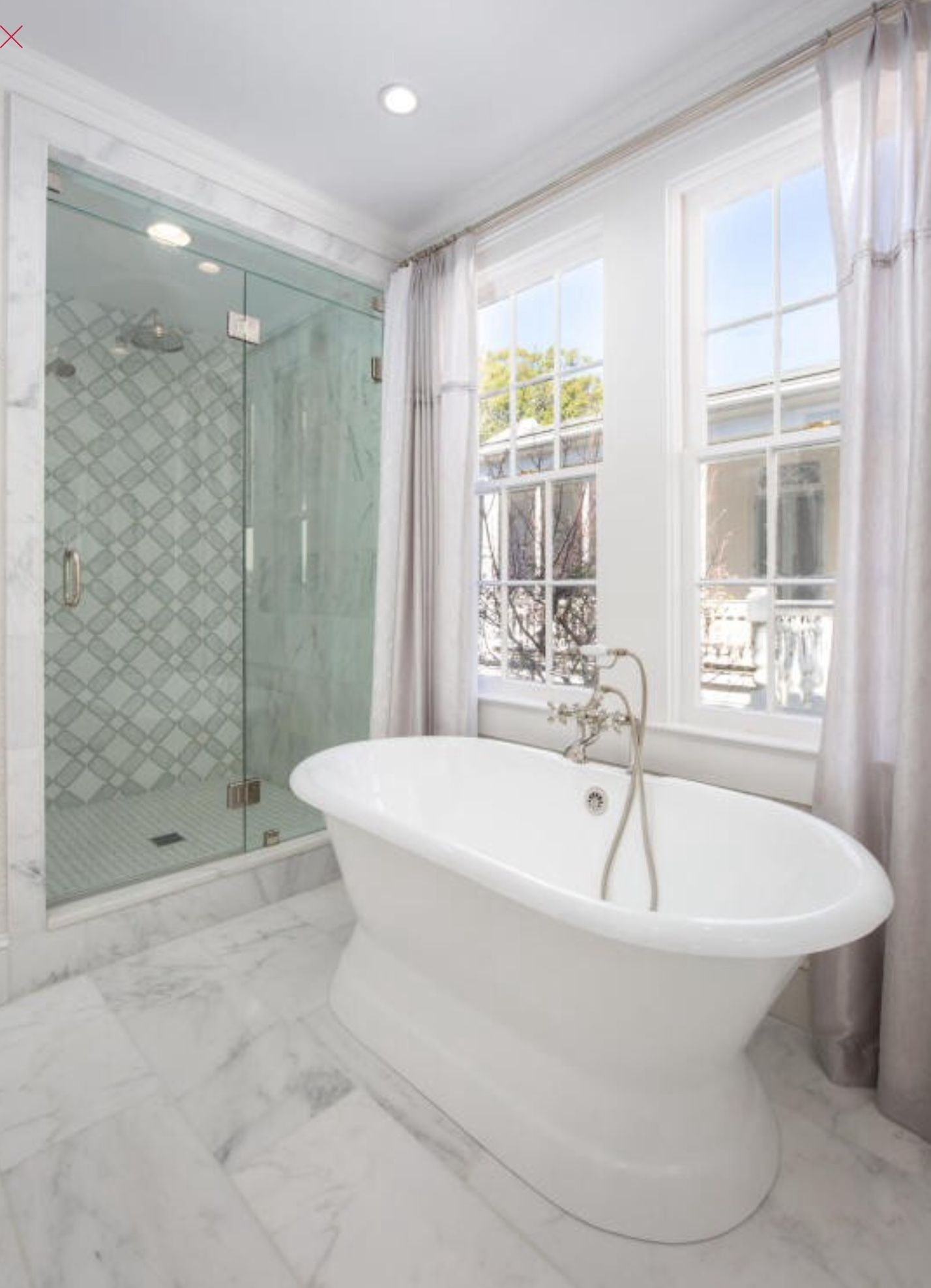 Classic bathroom remodel via Charleston MLS