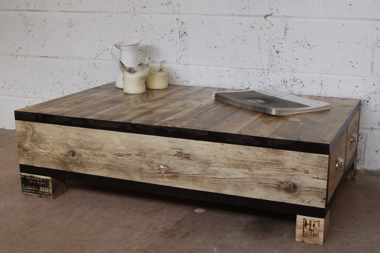 Coffee tables and side tables wine crate coffee table coffee reclaimed wood coffee table geotapseo Images