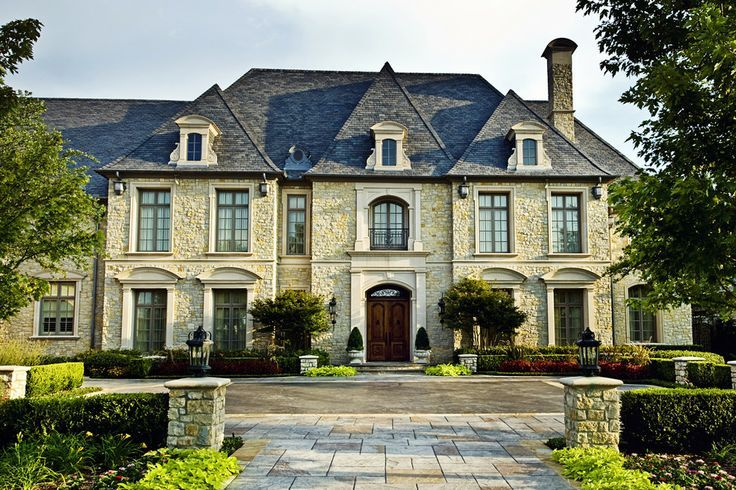 French Chateau Exterior Curved Windows Google Search