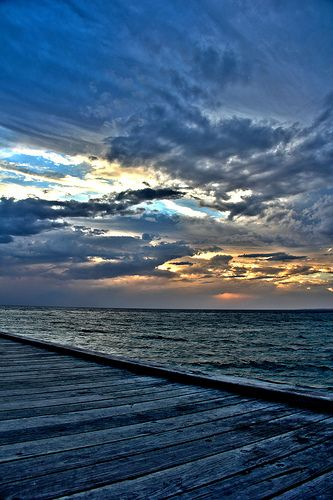 Storm clouds off the Seaford Pier - Victoria, Australia