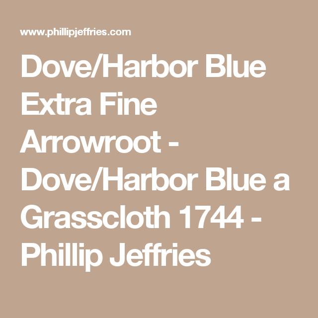 Dove/Harbor Blue Extra Fine Arrowroot - Dove/Harbor Blue a Grasscloth 1744 - Phillip Jeffries