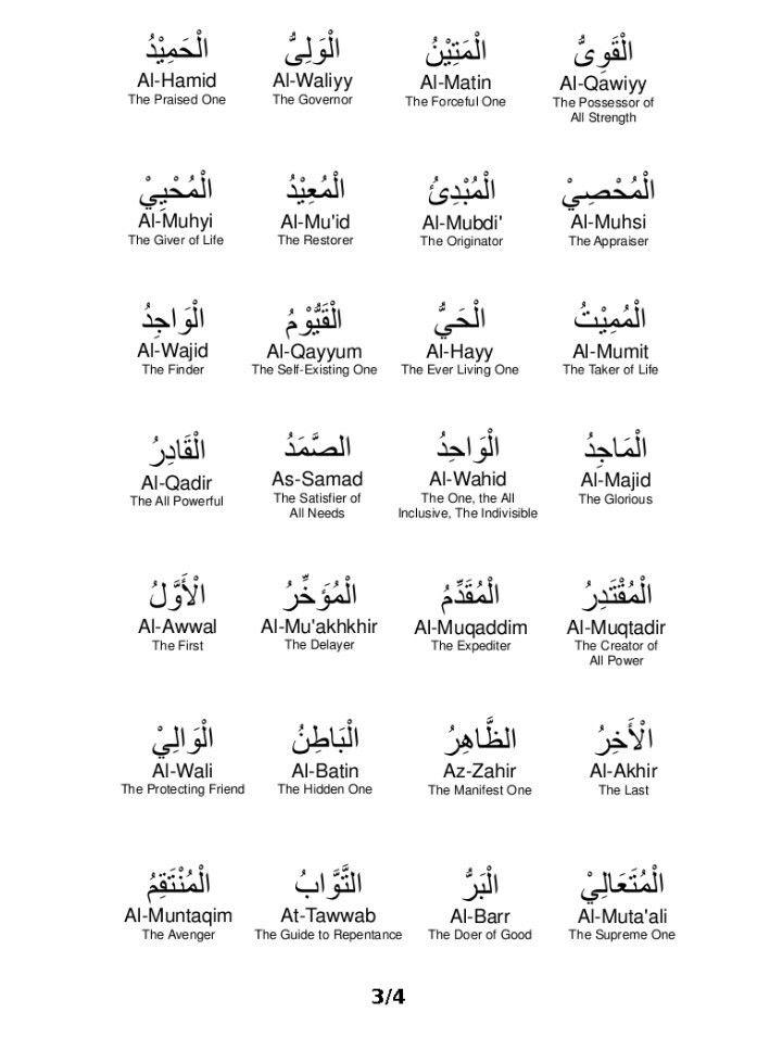 Tulisan Arab Asmaul Husna Dan Artinya Beserta Harakat : tulisan, asmaul, husna, artinya, beserta, harakat, Asmaul, Husna, Beserta, Artinya