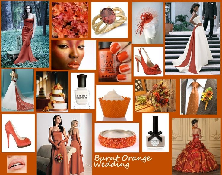 Burnt Orange And Champagne Wedding Color