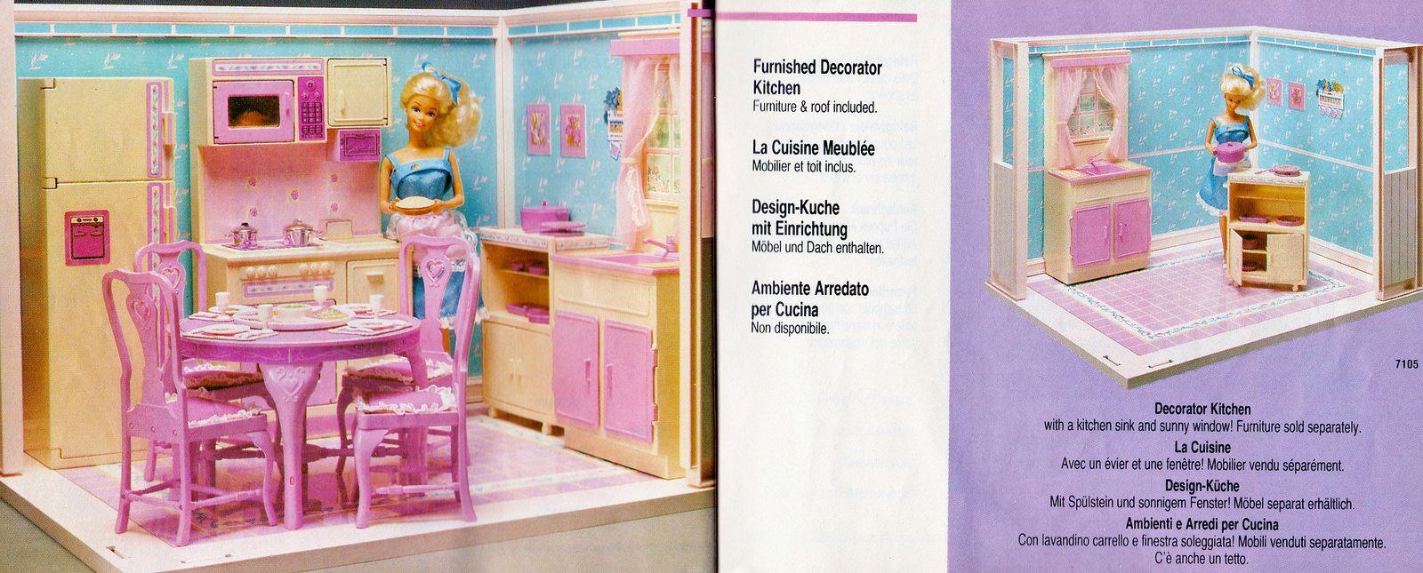 1987 Living Pretty Barbie Furnished Decorator Kitchen