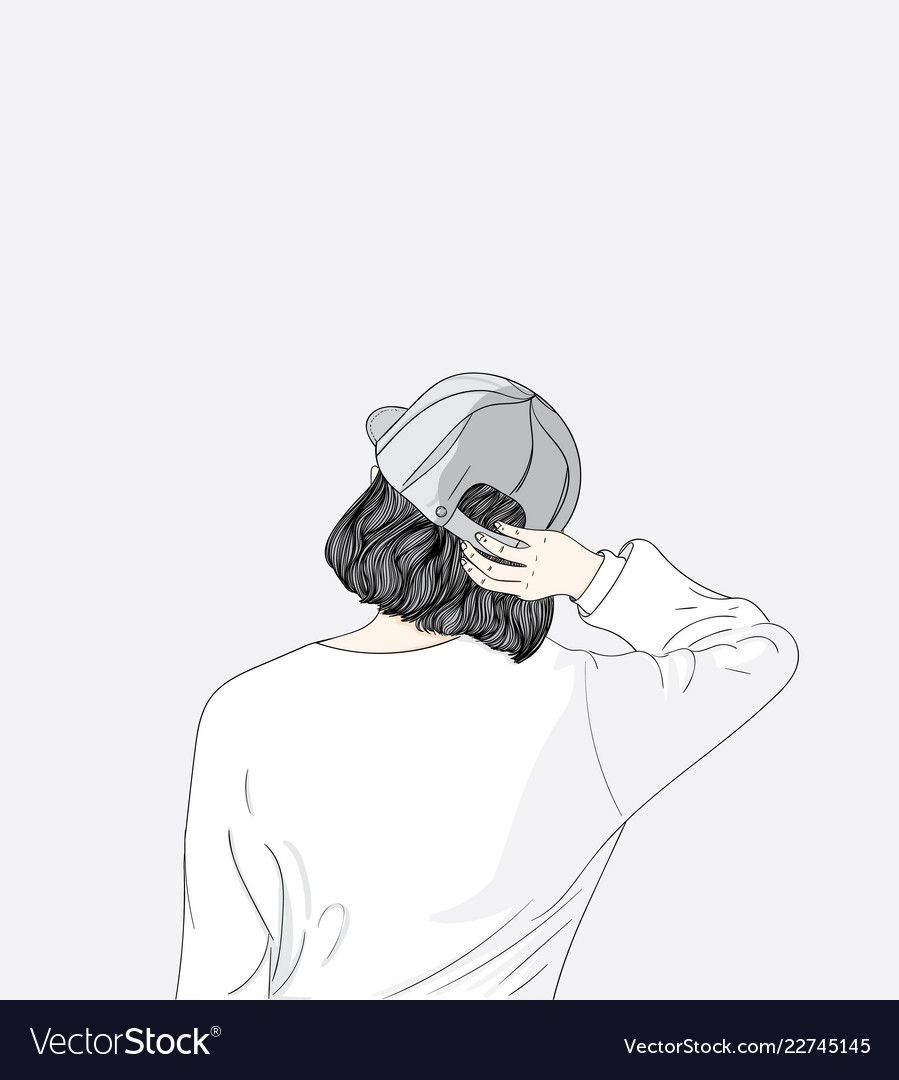 The girl turned her back feeling lonesome vector image on