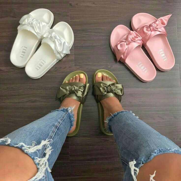 more photos 75a04 74e9c Slide Sandals Fenty #babygirl #rihanna #fenty #puma #slide ...