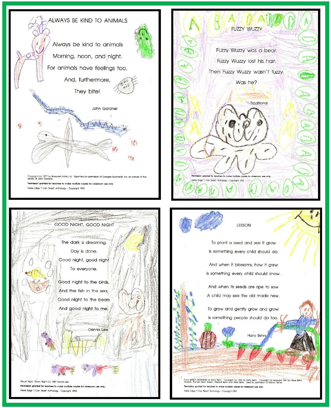 "Anthologies: Children Illustrate Their Own ""I Can Read"" Notebook Pages"