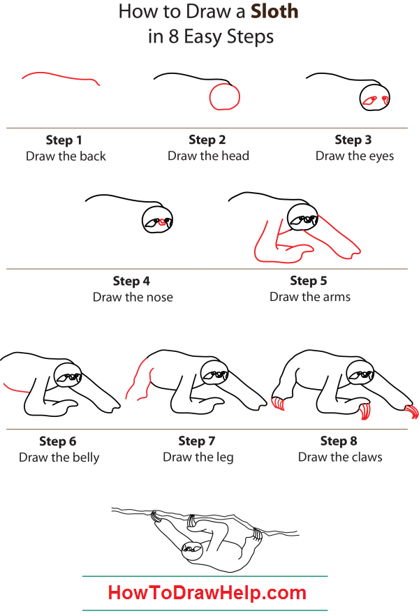 how to draw a sloth step by step belt is our favourite character in the croods