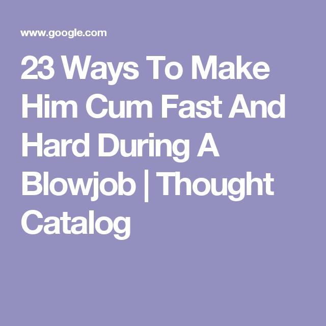ways to make him cum