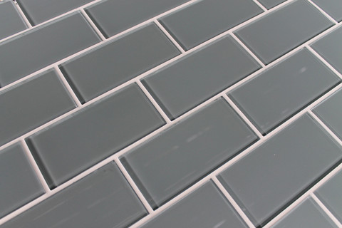 Chimney Smoke Gray 3x6 Glass Subway Tiles Unique - Awesome gray mosaic tile Awesome