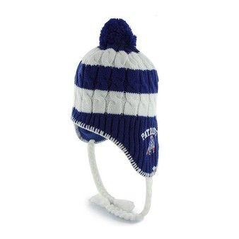 d6d3211902c9c Official New England Patriots ProShop - Ladies  47 Brand Throwback  Sherpette Royal Knit Hat Patriots