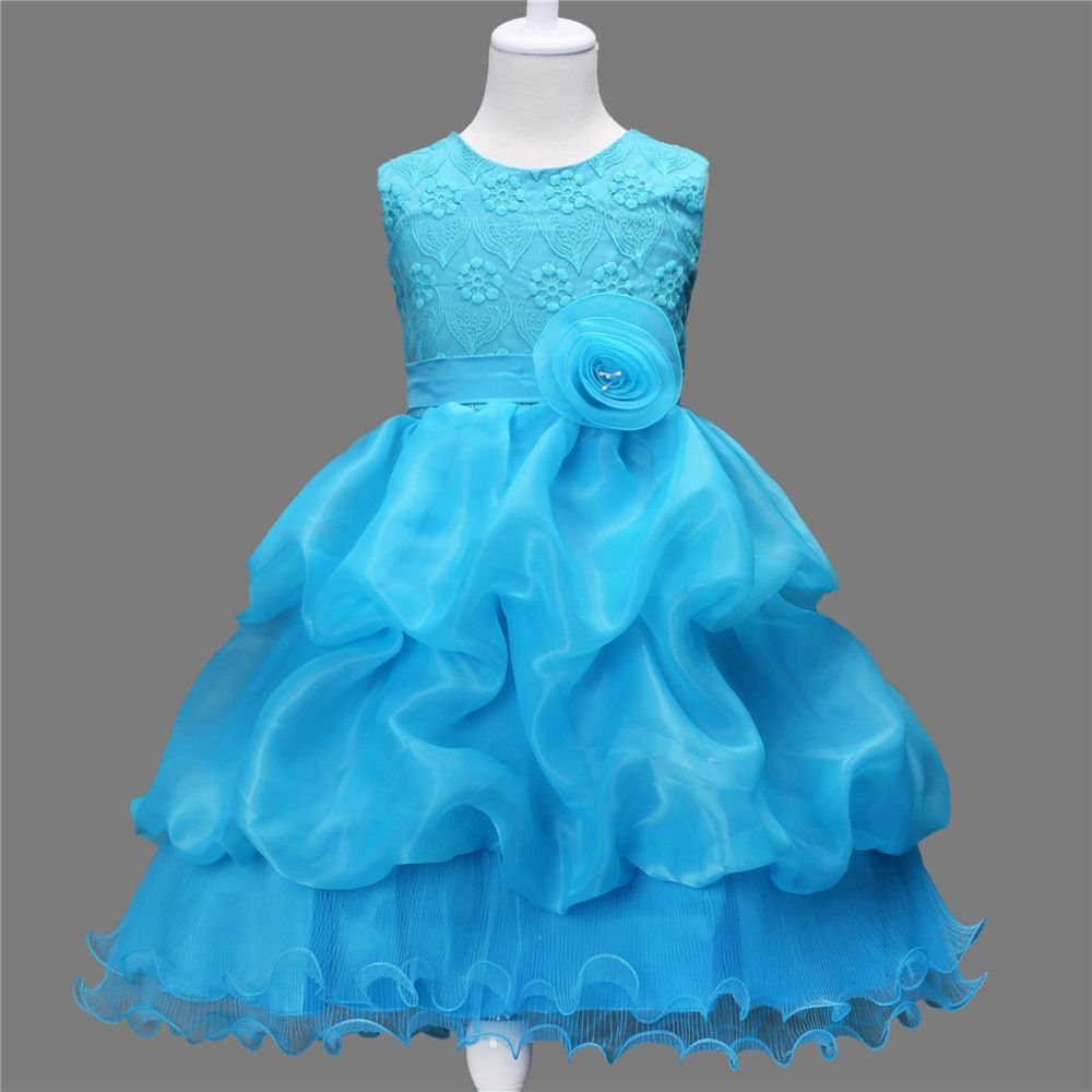childrens fashion 2017 dresses kids girl ball gowns puffy flower ...