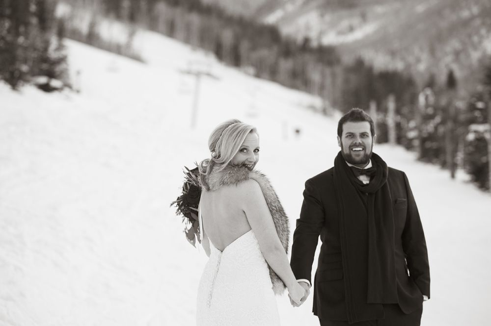 Park Hyatt Wedding Winter Wedding Winter Vail Wedding Fur Stole