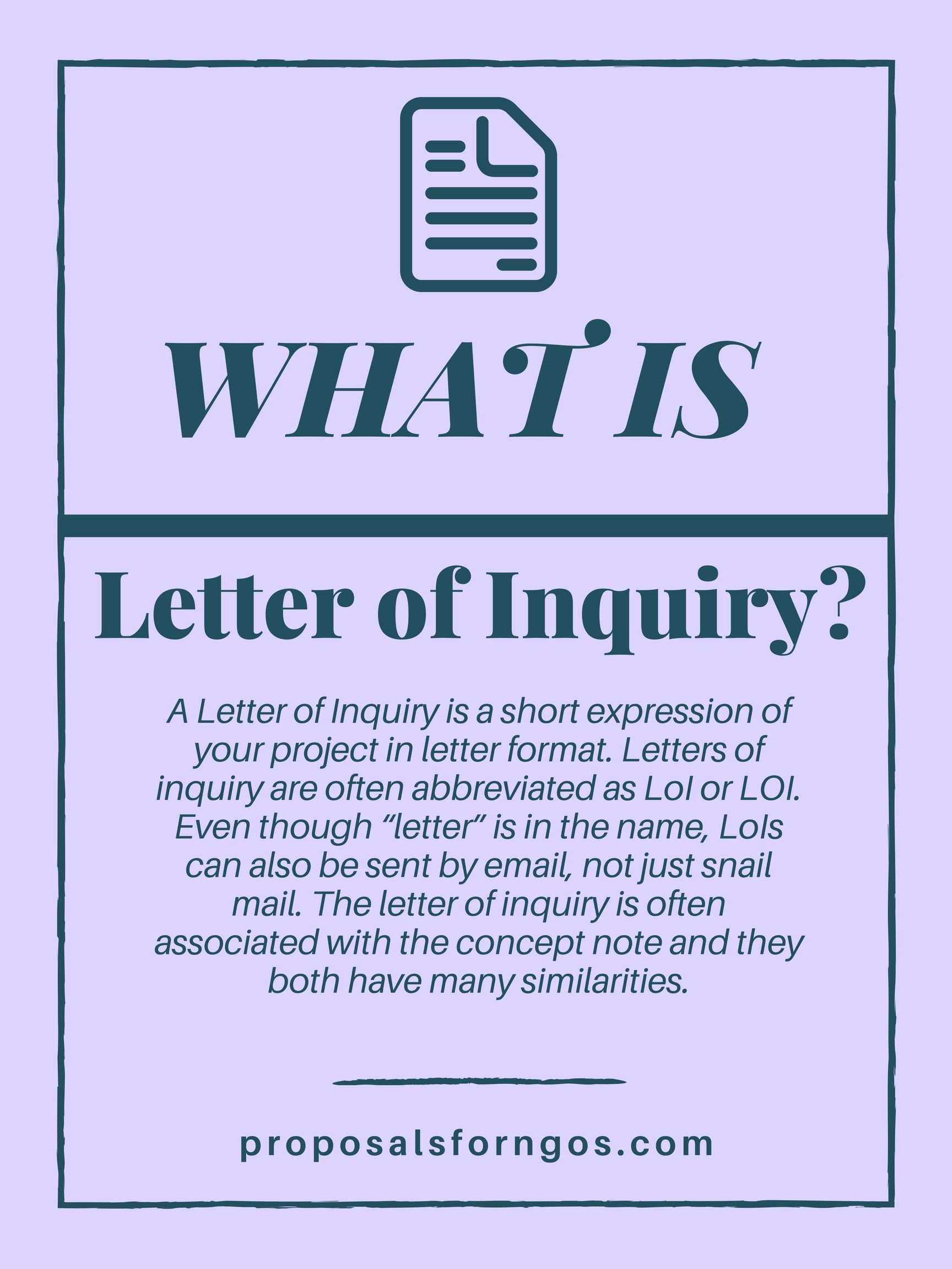 What Is A Letter Of Inquiry Grant Writing Proposal Writing Fun