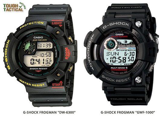 1ba66b689c First Generation of Frogman DW-6300 versusFifth Generation Frogman GWF-1000  Casio G Shock