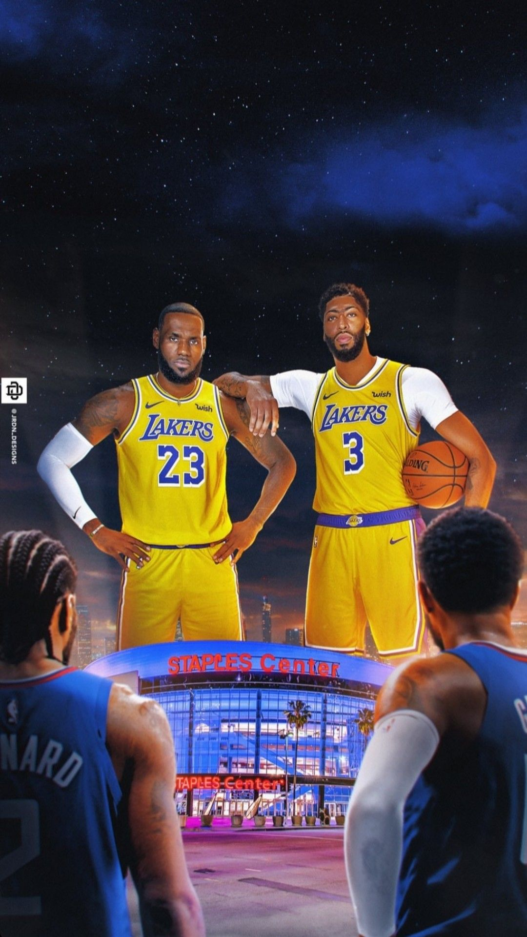 Lebron James And Anthony Davis Wallpaper Lakers Vs Clippers Lebron James Lakers Wallpaper Lakers