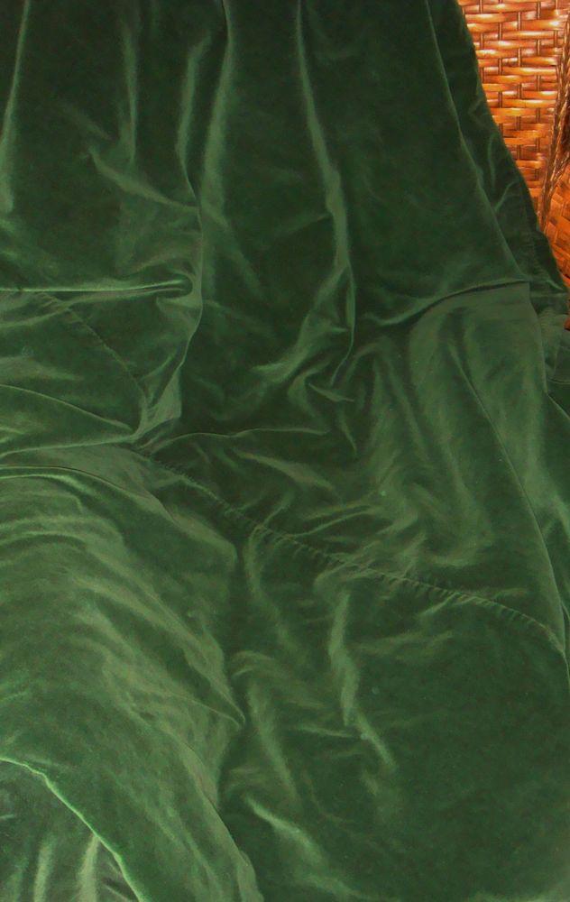 Pottery Barn Design Studio Solid Emerald Green Velvet