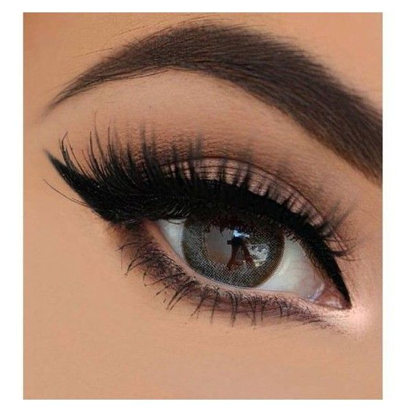Brown eyes ❤ liked on Polyvore featuring beauty products, makeup ...