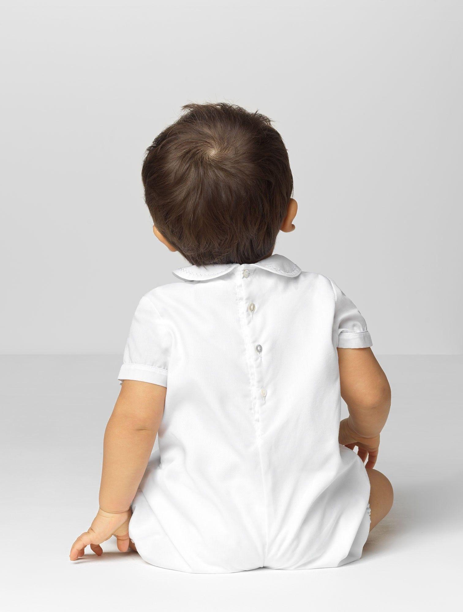 Baby boys white romper Wilber in 2020 Boys christening