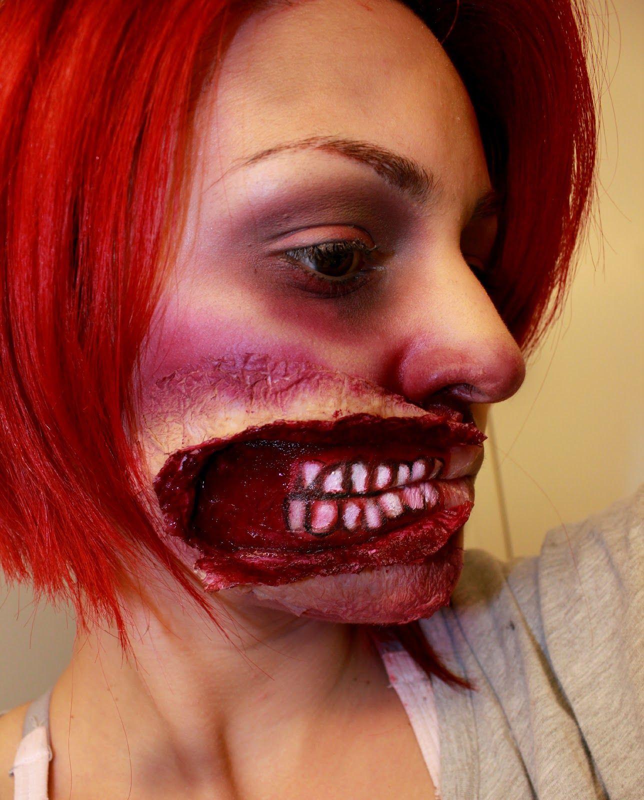 Open Mouth Wound - Halloween Makeup Look First Attempt ~ Beauty ...