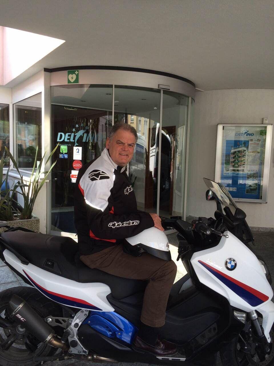 Federico Haas con la sua moto