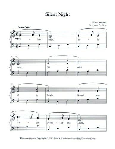 Silent Night Easy Piano Sheet Music Timiznceptzmusic