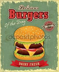 Resultado de imagem para imagens para quadros vintage hamburguer