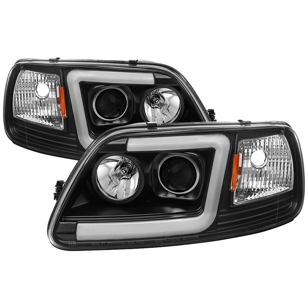 Spyder Auto Ford F150 97 03 Expedition 97 02 1pc Light Bar Projector Headlights Black Car Ford Projector Headlights Bar Lighting