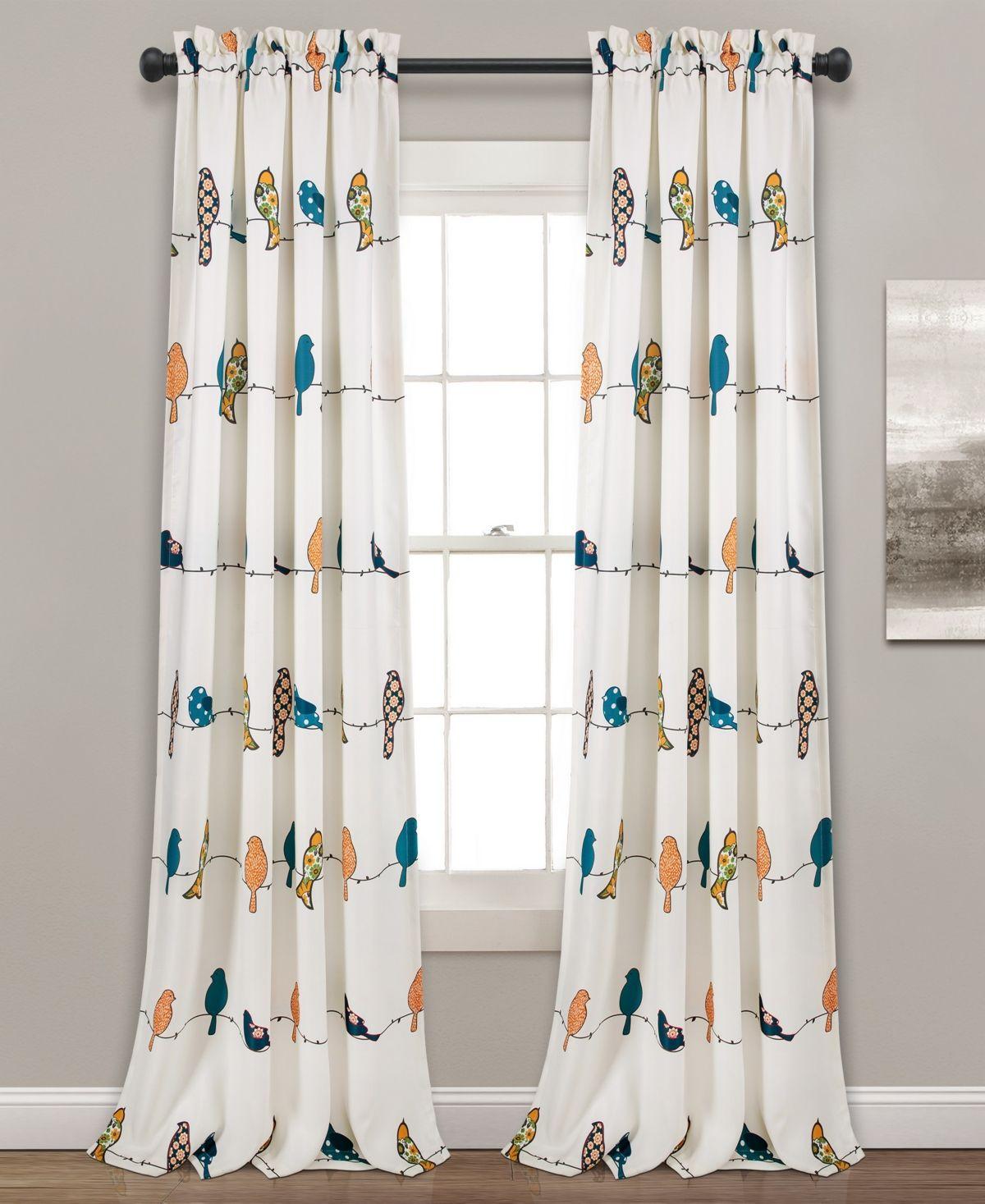 Lush Decor Rowley Bird Print 52 X 95 Curtain Set Reviews