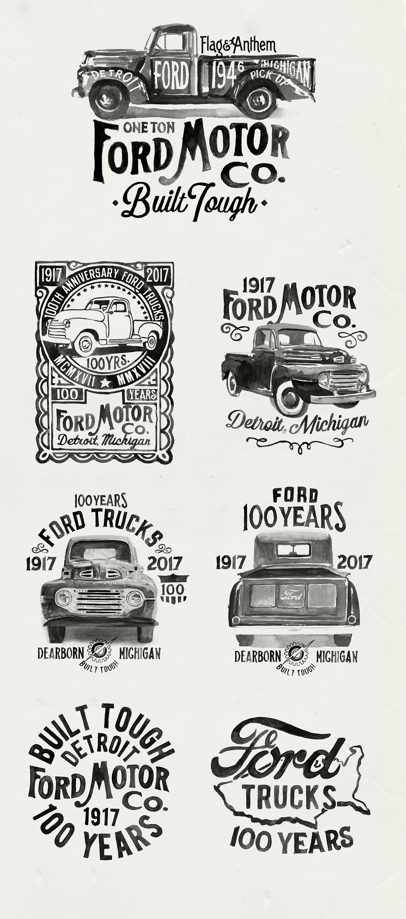 Selected art from 2017. Classic trucks
