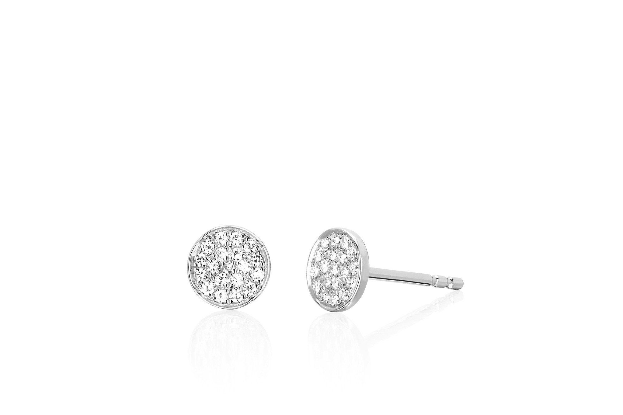 Diamond Mini Disc Stud Earring EF Collection