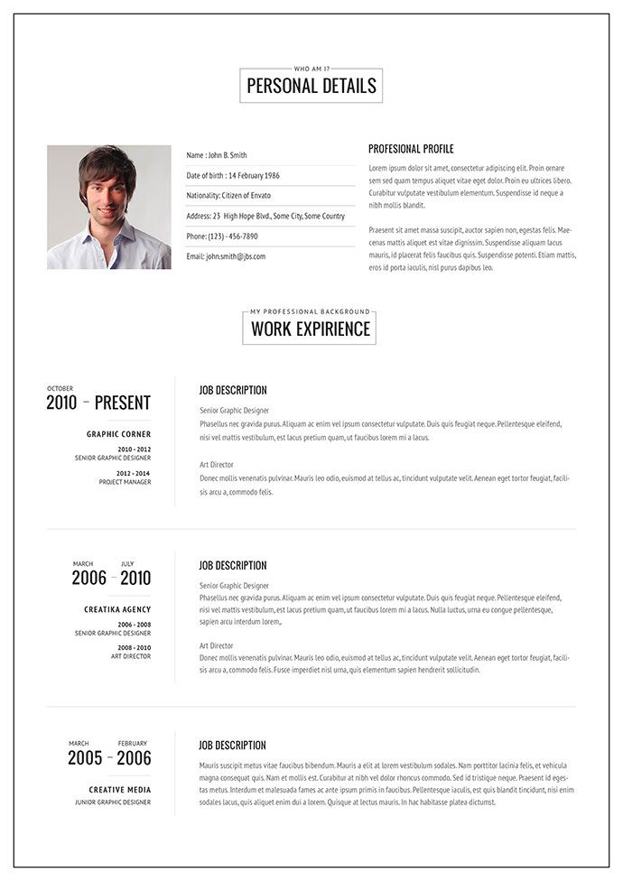 20 Intriguing Online Resume Templates \u2013 Web  Graphic Design on Cv