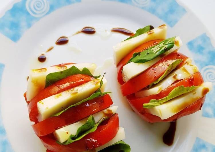 طماطم بالجبن والريحان بالصور من Luma F A Recipe Cooking Caprese Food