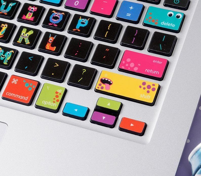 MacBook keyboard Stickers Decal Vinyl Air  Laptop Skin Monest For Mac