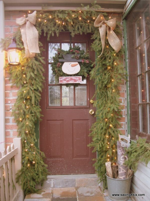Holiday Porch Decorating Ideas Part - 42: Top 16 Burlap Christmas Decoration IdeasNow That The Halloween And  Thanksgiving Decorations Have Come Down,
