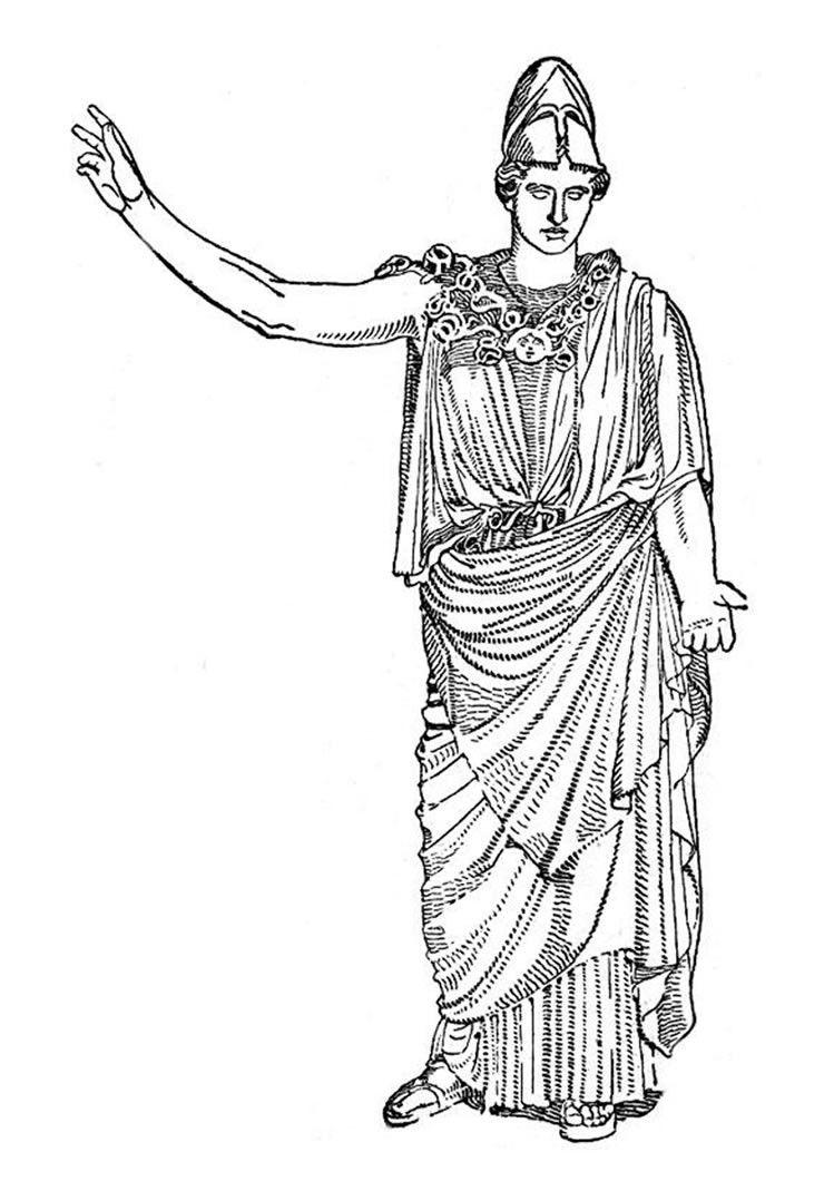 Greek Goddesses Coloring Pages Goddess Artemis Arte Grega