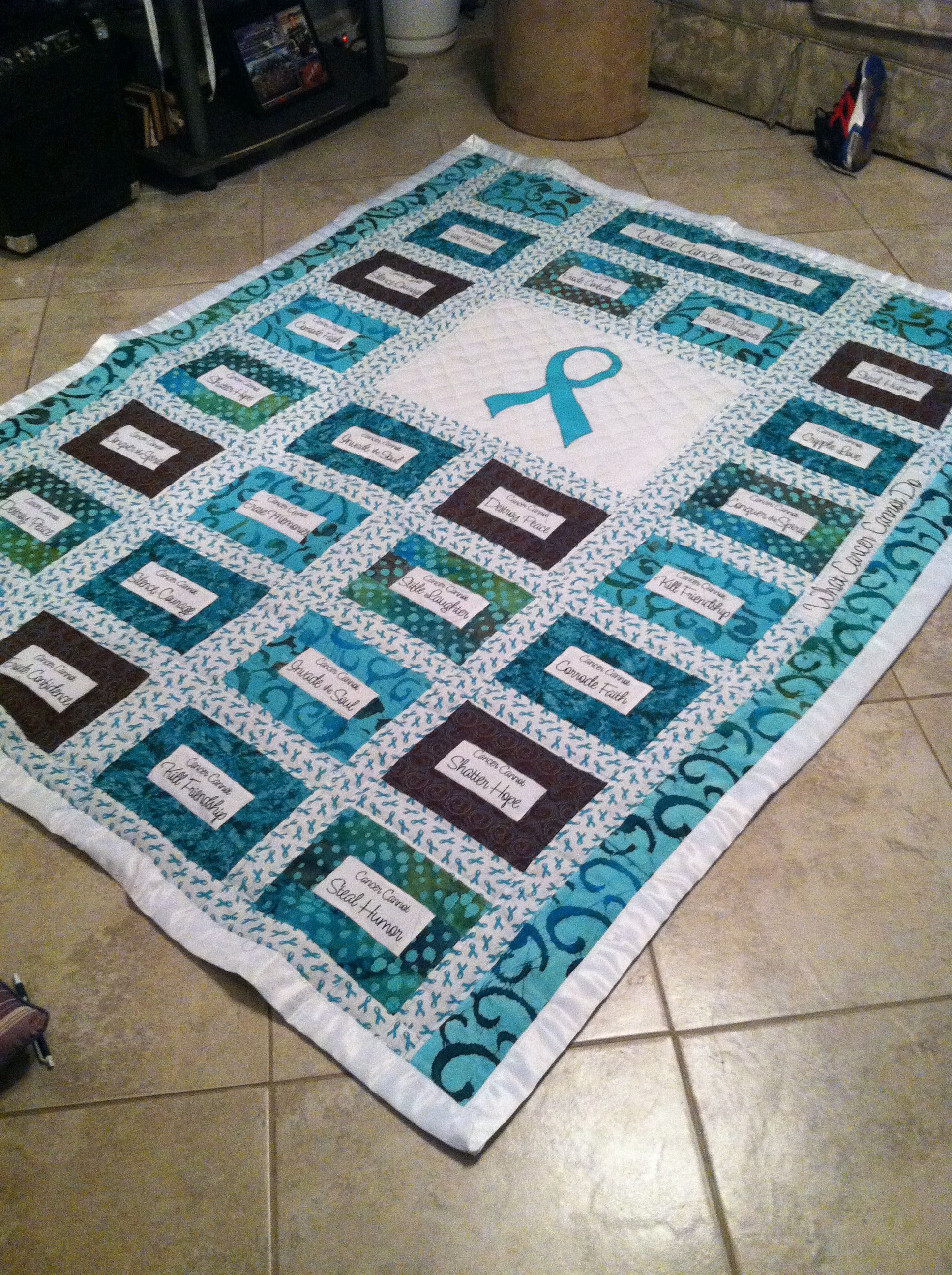What Cancer Cannot Do Quilt Quilts Pinterest Panel