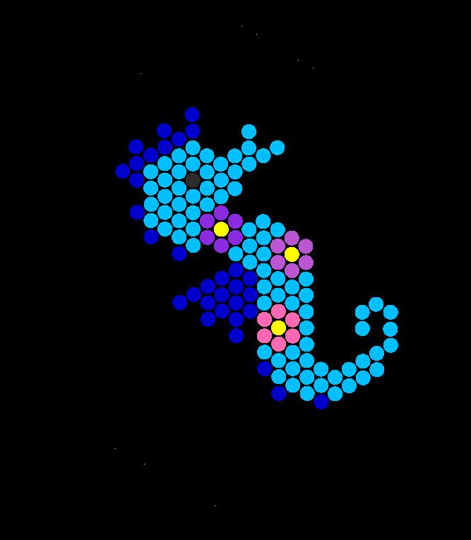 Seahorse Perler Bead Pattern | Bead Sprites | Animals Fuse Bead ...