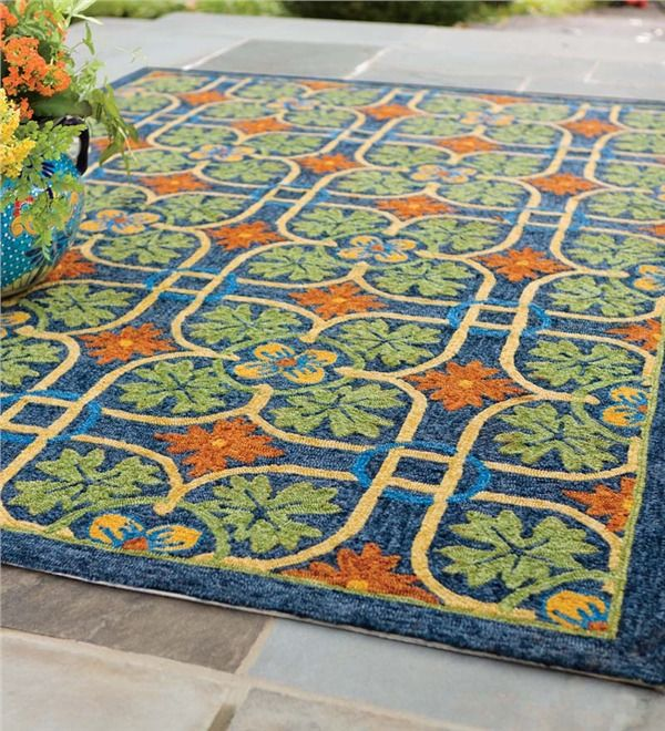 Main Image For Talavera Tile Indoor Outdoor Rug 5 27 X 7 275 26quot