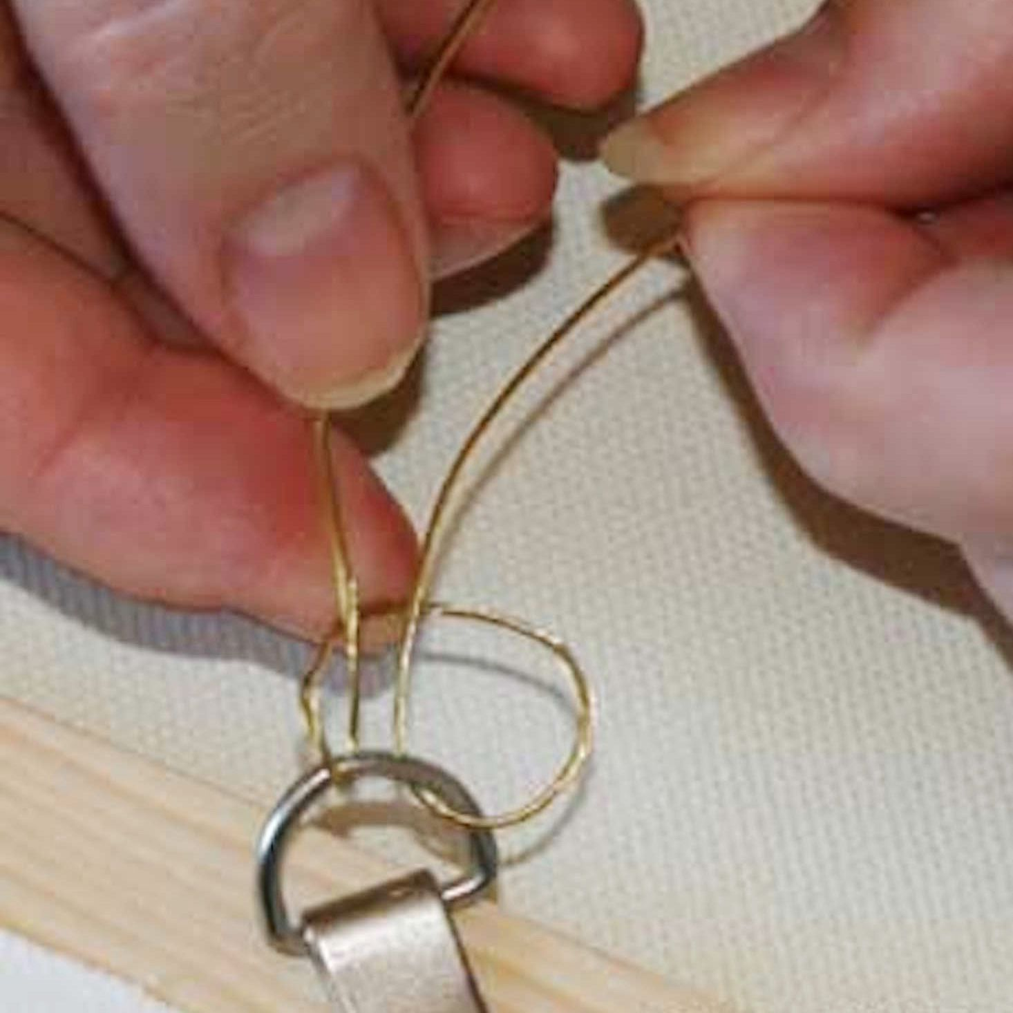 Hang Your Painting Using Wire And D Rings Picture Wire Hanging