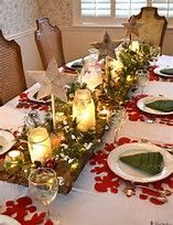 Image result for Simple Christmas Table Decorations