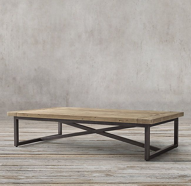 RH s Torano Salvaged Rectangular Coffee Table Designed by Timothy
