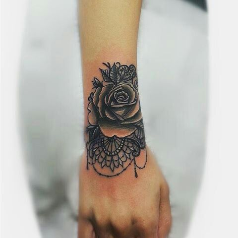Rose Mandala Wrist Tattoo Rose Tattoos On Wrist Wrist Tattoos For Women Tattoos For Women
