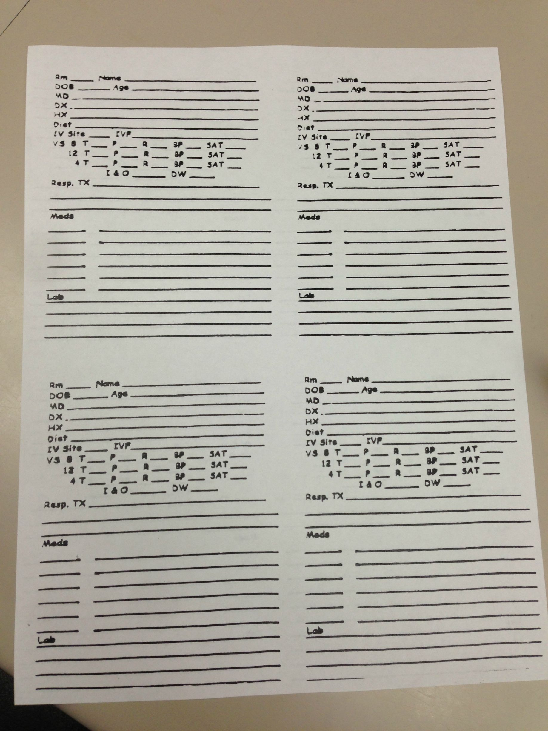 What Does Yall Report Sheet Look Like