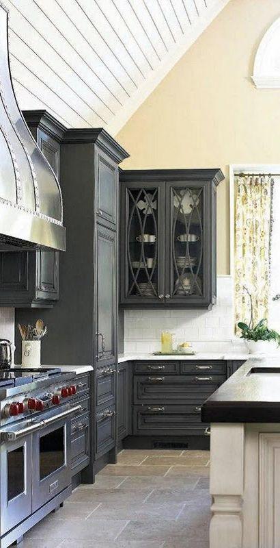 Gorgeous Interiors Black Kitchen Cabinets Black Kitchens