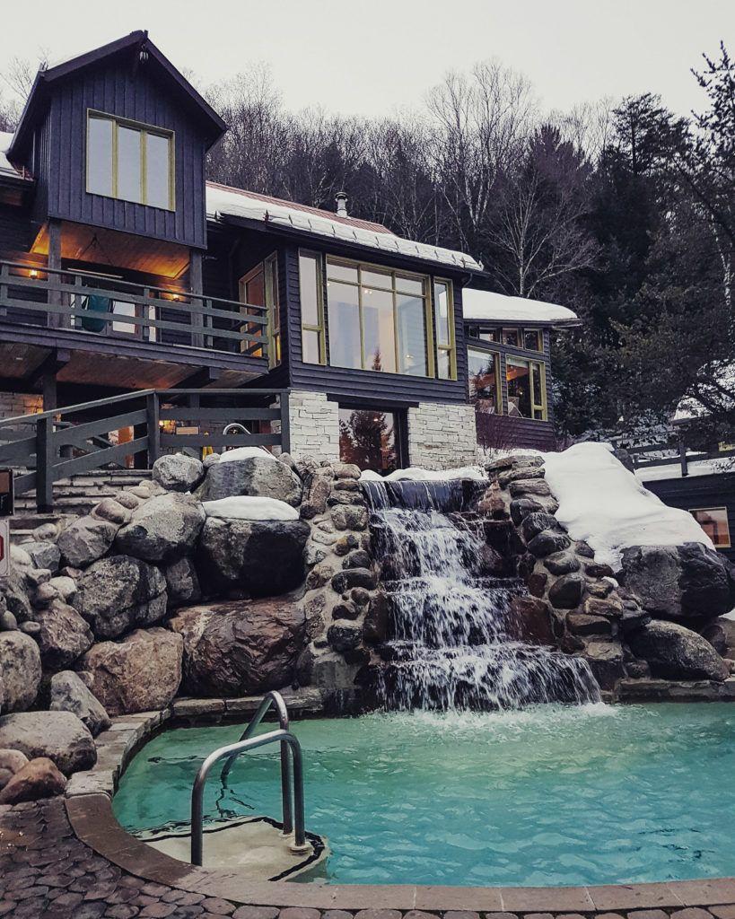 Weekend Getaway Guide To Mont Tremblant Scandinave Spa Www Lindsayemma Com Backyard Mont Tremblant Scandinavian Baths