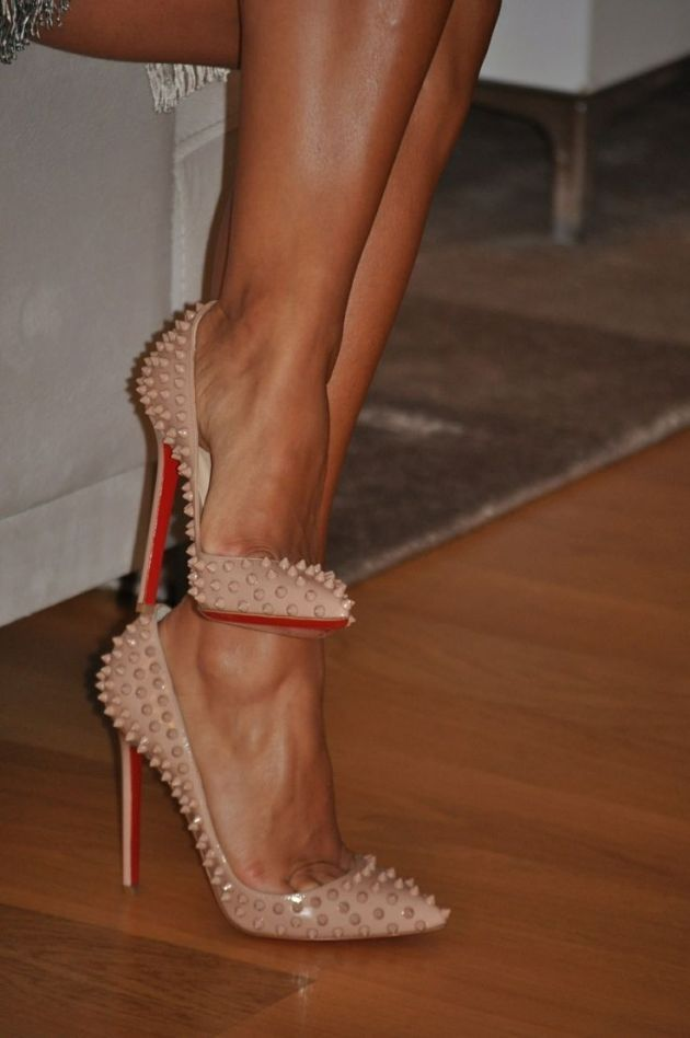 21eb973e9976 Do Not Lose The Chance To Own Christian Louboutin Pigalle Spikes 120mm  Pumps Black With A Low Price.  Red  Shoes  Highheels