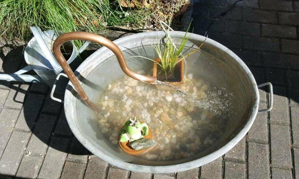 Wasserspiel Fur Zinkwanne Brunnen Teich Brunneneinlauf Kupfer In Bayern Hirschaid Wasserspiele Zinkwanne Wasser