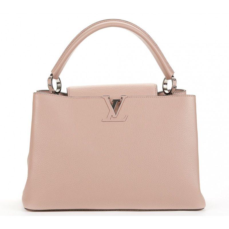 556e70b4d642 pink Plain Leather LOUIS VUITTON Handbag - Vestiaire Collective ...