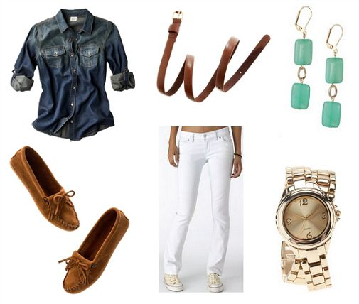 I think I need a good pair of white jeans - in addition to this snazzy outfit, I like all the outfit ideas when you follow the link.